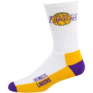 Los Angeles Lakers White Tri Color Team Logo Tall Socks