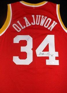 Hakeem Olajuwon Houston Rockets Autographed Jersey JSA Authentic