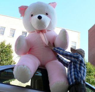 Feet Tall Pink Panda Bear Stuffed Plush Jumbo Toy