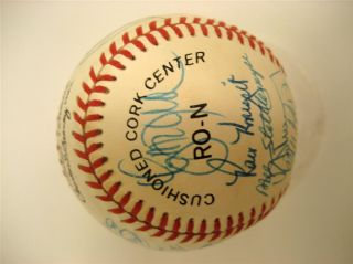 New York Mets World Series 1986 Signed Team Baseball