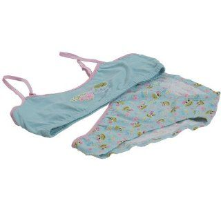 Sweet n Sassy Girls Undergarments Blue Bra Panty 2pc Set
