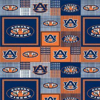 60 Wide Collegiate Fleece Auburn University Allover Navy