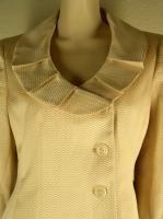 Evan Picone Gold Jacket Blazer Skirt Suit Sz 12 New $200 1042