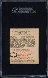 1948 Bowman 91 Jim White SGC Authentic Wrong Back
