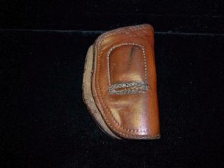 Vintage R H Hoyt 38 2 Leather Clam Shell Holster