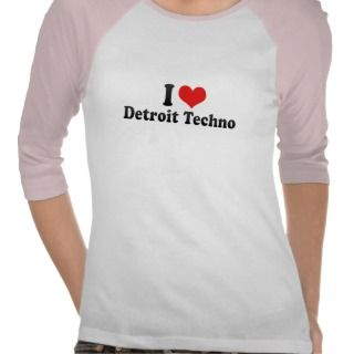 Love Detroit Techno Tshirt
