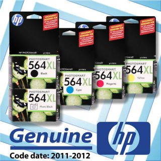 New Genuine HP 564XL 5 Pack Ink Cartridge Color Set Box
