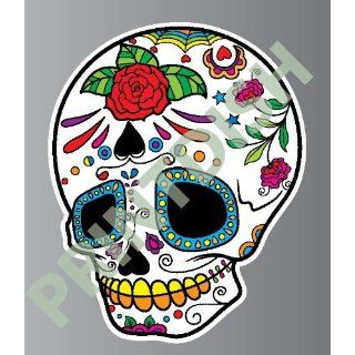 Sugar skull 7 2 sticker vinyl decal 3 x 2.4 Everything