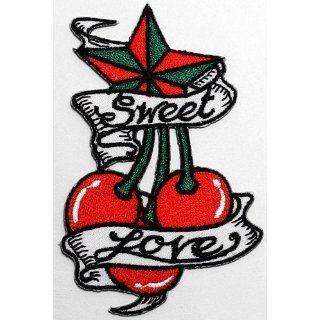 Cherry Tattoo Star Sweet Love Biker Clothing Jacket Shirt