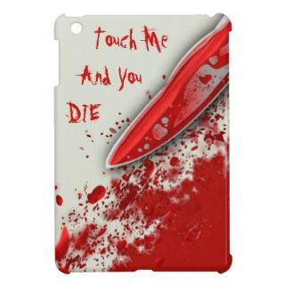 Bloody Knife Blood Splatter Custom iPad Mini Case