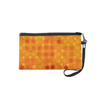 Orange and Yellow Polka Dots Wristlets