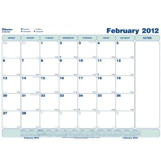 Blueline 2012 WOCO Monthly Calendar, Static Sheets, 17 x