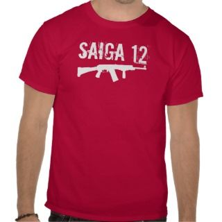 Saiga 12   Team Shirt Front Grip Folding Stock