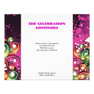 Alexa Black Pink Bat Mitzvah Sweet 16 Party Custom Announcement