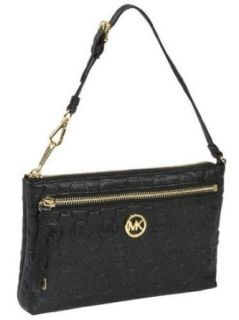 MICHAEL Michael Kors Monogram Embossed Leather Wristlet