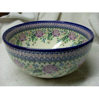Polish Pottery Large Kitchen Bowl 9 1/4 In. 99 Oz