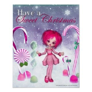 Have a Swee Chrismas  Pink Cookie Poser Girl Posers