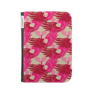 Heartwings Camouflage: Pink & Beige Kindle Case