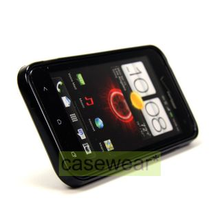 BLACK SOFT TPU CASE SKIN GEL COVER FOR HTC DROID INCREDIBLE 4G LTE NEW