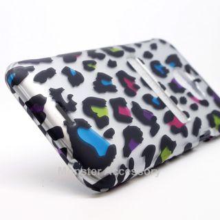 Leopard Rubberized Hard Case Cover for HTC Evo 4G LTE Sprint Accessory