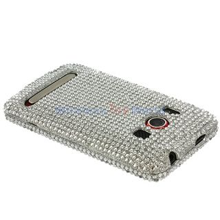 Silver Bling Case Cover for HTC Sprint EVO 4G Phone