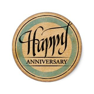 Happy Anniversary Sticker