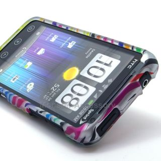 Rubberized Hard Case Cover for HTC EVO V 4G Virgin Mobile 3D