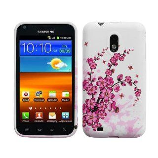 Pink Flowers WhiteSilicon Soft Gel Skin Case Cover for