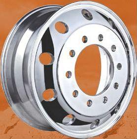22 5 x 8 25 Aluminum Wheel Hub Pilot Outside Polished
