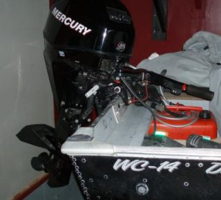 2010 Mercury 25 HP EFI Outboard Motor with Power Tilt and Trim