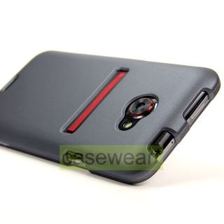 Gunmetal Grey Rubberized Hard Case Cover for HTC EVO 4G LTE One Sprint