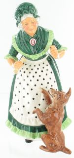 ROYAL DOULTON OLD MOTHER HUBBARD RETIRED HN 2314 RARE ~NICE DOG