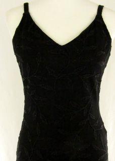 Sz 8 Huey Waltzer Black Long Beaded Pencil Evening Dress Cocktail