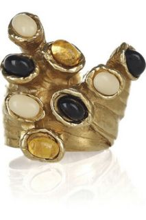 Yves Saint Laurent Arty gold plated glass ring   65% Off