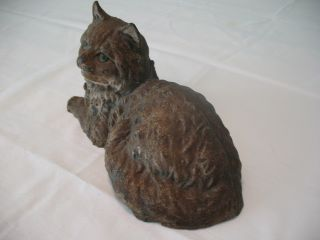Hubley Cast Iron Green Eyed Cat Doorstop Antique Kitten Mantle 335