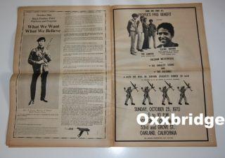 Black Panther Party Huey Newton Angela Bobby Seale Original Newspaper