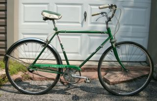 1962 Huffy Raleigh Sportsman Bicycle Araya Rims 26 Wheels 3 Speed Vtg