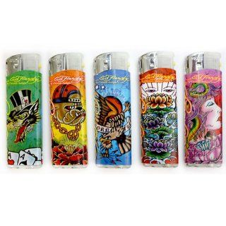 5 PACK Ed Hardy Refillable Tattoo Color Changing LED