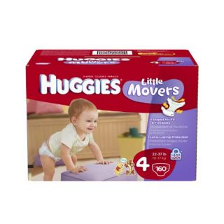 Huggies Little Movers Diapers Economy Plus Size 4 160 Count