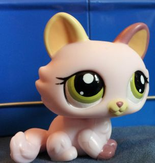 Littlest Pet Shop Loose 1489 Pink Kitten Cat with Hat Search N Safari
