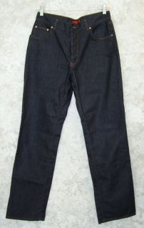 Hugo Boss Dark Rinse Jeans Button Fly 33 x 33 Missing Button Otherwise