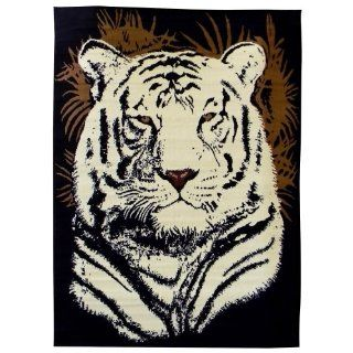 DonnieAnn African Adventure 5 Feet by 7 Feet White Tiger
