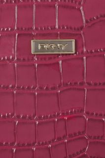 DKNY Crocodile effect patent leather iPad case
