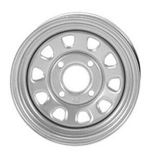 ITP Delta Steel Wheel   12x7   5+2 Offset   4/115   Silver, Wheel Rim