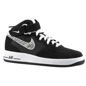 Nike Air Force 1 Mid   Mens   Basketball   Shoes   Black/White