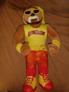 Hulk Hogan Hulkamania WWF WWE 16 Plush Stuffed Bear Toy