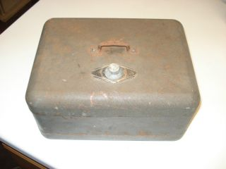 Antique Cast Iron Money Box Fire Safe