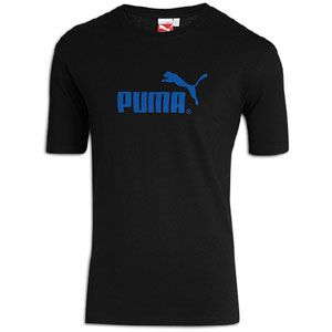 PUMA #1 Logo S/S T Shirt   Mens   Casual   Clothing   Black/Blue