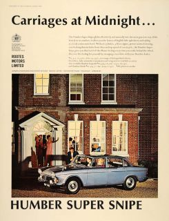 1965 Ad Humbler Super Snipe Blue British Car Automobile   ORIGINAL