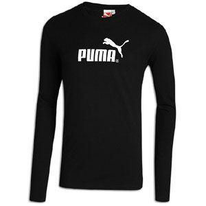 PUMA #1 Logo Long Sleeve T Shirt   Mens   Casual   Clothing   Black